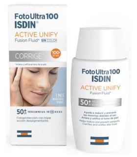 ISDIN FOTO ULTRA 100 ACTIVE UNIFY FUSION FLUID SPF50+ 50ML Cosmética facial y Cosmética - ISDIN