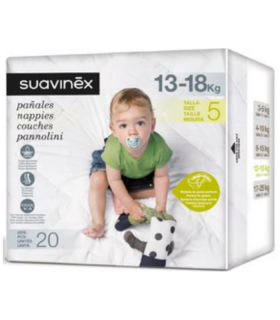 SUAVINEX PAÑALES TALLA 5 (13-18KG) 20UDS Bebé y mamá y Inicio - SUAVINEX