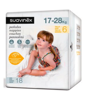 SUAVINEX PAÑALES TALLA 6 (17-28KG) 18UDS Bebé y mamá y Inicio - SUAVINEX