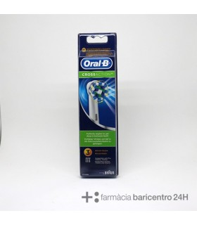 ORAL-B RECAMBIO CROSS ACTION 3 UNiDADES Cepillos y Higiene Bucal