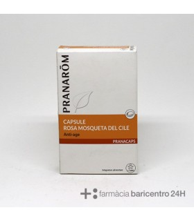 PRANAROM ROSA MOSQUETA ANTI-EDAD 40 CAPS Firmeza facial y Nutricosmetica