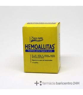 HEMOALLITAS TOALLITAS 15U Hemorroides y Cuidado Circulatorio