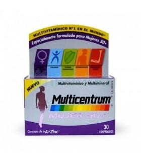 MULTICENTRUM MUJER 50+ 30 COMPRIMIDOS Multivitaminicos y Complen Alimentarios y vitamin