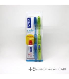 VITIS CEPILLO MEDIO PACK Cepillos y Higiene Bucal