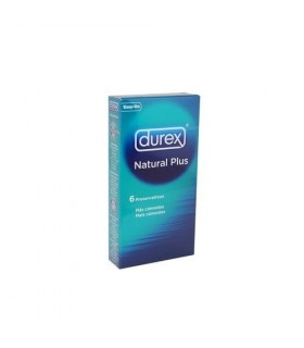 DUREX PRESERVATIVOS NATURAL PLUS EASY ON 6 UNIDA Preservativos y Salud Sexual