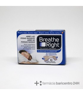 BREATH RIGHT CLASICAS MEDIANAS-GRANDES 10U Congestion Nasal y Cuidado Respiratorio