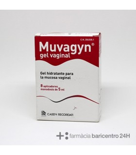 MUVAGYN GEL HIDRATANTE LIPO 5 ML 8 APLICADORES Sequedad vaginal y Higiene Intima