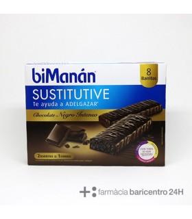 BIMANAN SUSTITUTIVE BARRITA CHOCOLATE INTENSO 8 BARRITAS Dieta y Adelgazamiento