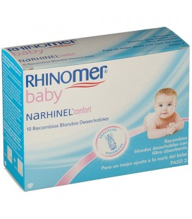 NARHINEL CONFORT 10 RECAMBIOS BLANDO Higiene nasal y Cuidado del bebe