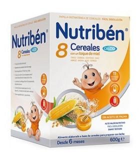 NUTRIBEN PAPILLA 8 CEREALES MIEL CALCIO 600 G Papillas y Alimentacion del bebe