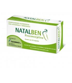 NATALBEN PRECONCEPTIVO 30 CAP Fertilidad y Complen Alimentarios y vitamin