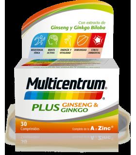 MULTICENTRUM PLUS GINSENG GINKGO 30 COMPRIMIDOS Multivitaminicos y Complen Alimentarios y vitamin