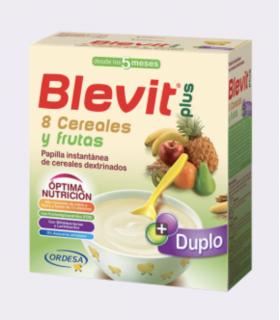 BLEVIT PLUS DUPLO 8 CEREALES QUESO Y FRUTA 600 G Papillas y Alimentacion del bebe