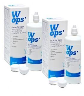 WOPS SOLUCION UNICA LENTES DE CONTACTO 2X360 ML Nariz ojos y oidos y Farmacia en Casa