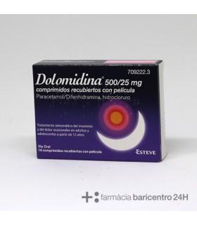 DOLOMIDINA 500-25 MG 10 COMPRIMIDOS RECUBIERTOS