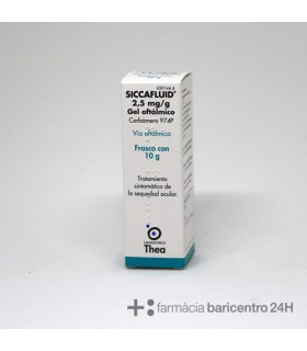 SICCAFLUID 2.5 MG-G GEL OFTALMICO 10 G