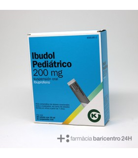 IBUDOL PEDIATRICO 200 MG 20 SOBRES SUSPENSION OR