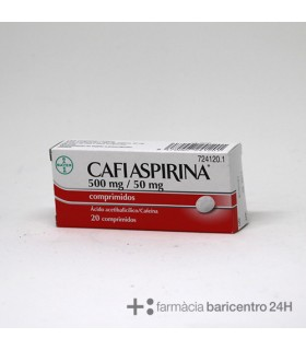 CAFIASPIRINA 500-50 MG 20 COMPRIMIDOS