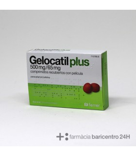 GELOCATIL PLUS 500-65MG 20 COM