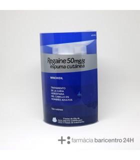REGAINE 50 MG-G ESPUMA CUTANEA 3 AEROSOLES 60 G