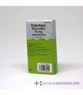 DULCOLAXO BISACODILO 10 MG 6 SUPOSITORIOS