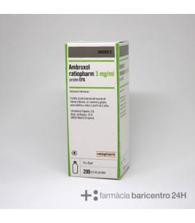 AMBROXOL RATIOPHARM EFG 3 MG-ML JARABE 200 ML