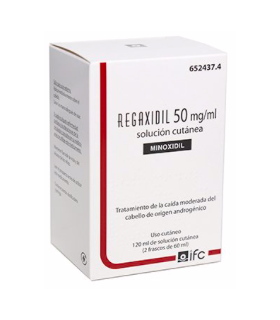 REGAXIDIL 50 MG-ML SOLUCION CUTANEA 3 FRASCOS 60 ML